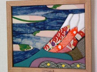 布絵 赤富士の画像
