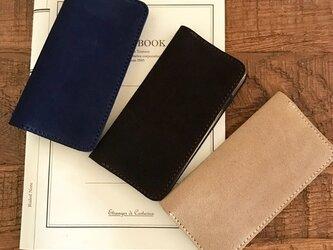 英国スエード革 スーパーバックのiPhoneケース iPhone全機種から選択可の画像