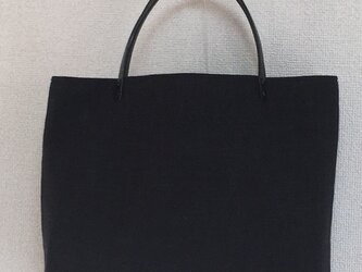 【nyantobaby様オーダー品】マチありミニバッグ(黒)の画像