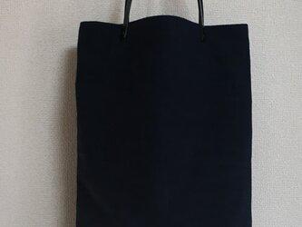 【めぐ様オーダー品】縦長バッグ(黒)の画像