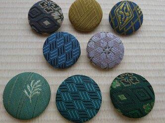 畳の縁でくるみボタン(3個入れ)の画像