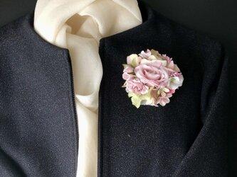 薔薇のコサージュ&ヘアアクセサリーの画像