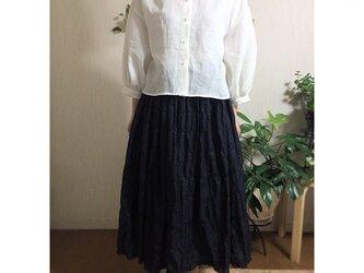 イタリー製コットン混紡生地 ギャザースカートの画像