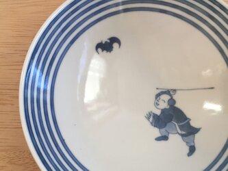 福追う唐子平鉢の画像