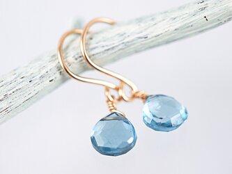 14KGF London Blue Topaz Earringsの画像