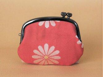 着物帯リメイクがまぐち 《くし》 ピンク・花 の画像