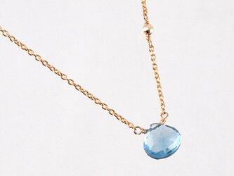 14KGF London Blue Topaz Necklaceの画像