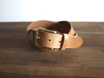 イギリス製の真鍮金具を使用したベルト:LOGの画像