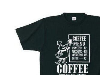 ビーンズマンのCOFFEE SHOP 150.160(女性S〜L)S〜XL Tシャツ 【受注生産品】の画像