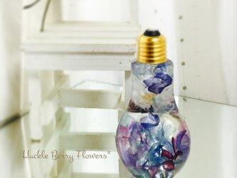 【新色】シルバーパープル フラワーボトル ハーバリウムLsizeの画像