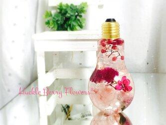 【新色】恋する乙女 フラワーボトル ハーバリウムLsizeの画像