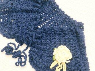 かぎ針編みのストール 【送料無料】の画像