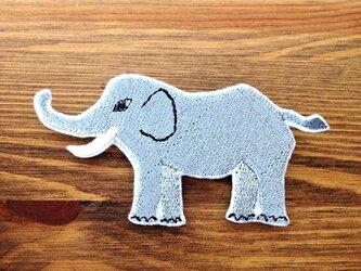 刺繍ブローチ 「ゾウ」の画像
