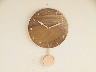 振り子時計 朴材1の画像