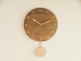 振り子時計 朴材2の画像