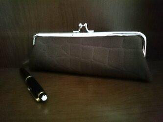 ◆【再販5】帆布の型押しクロコダイル柄メガネケース*ペンケース*バレンタイン*メンズ*プレゼント◆の画像