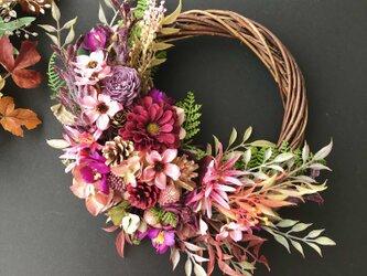 敬老の日プレゼント♡Autumn Cosmos wreathの画像