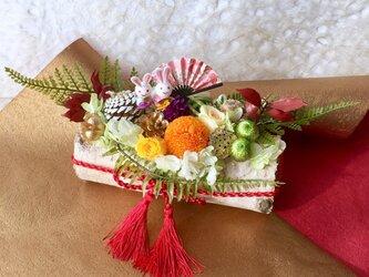 ご結婚お祝いや初節句お祝いに 白樺アレンジ プリザーブドフラワーの画像