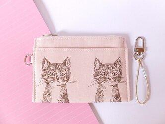 パス&スマートキーケース(2匹のネコ)の画像