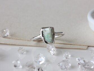 silver-糸魚川翡翠の鉱物リングの画像