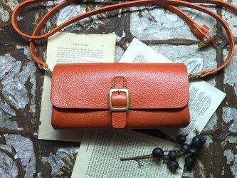 *受注製作*wallet bag(orange)の画像