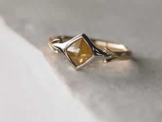 ローズカット・イエローダイヤモンド/指輪の画像