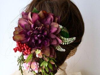 芍薬のヘアアクセサリー 結婚式や入学式にの画像