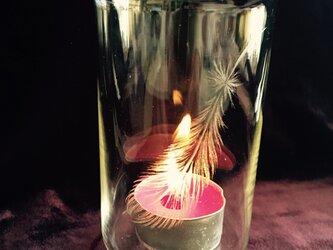 羽のグラス 〜手彫りガラス〜の画像
