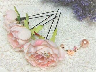 花かんざし(Uピン)オールドローズ チャーム☆*:ベビーピンクの画像