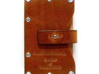 Card case-002-名刺入れ キャメルの画像