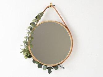 小さなならのまる鏡 紐の画像