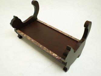 猫ちゃんのご飯台 ココアブラウンの画像