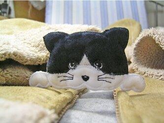 ★鉢割猫★アップリケ刺繍★猫ワッペン★の画像