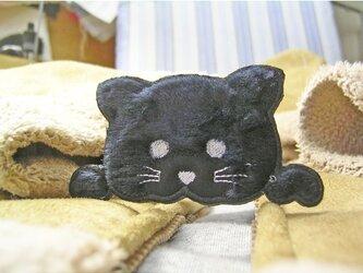 ★黒猫★アップリケ刺繍★猫ワッペン★の画像