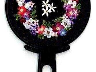 押し花ハンドミラー (黒)の画像