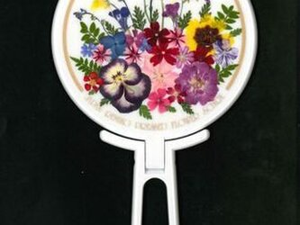 押し花ハンドミラー (白)の画像