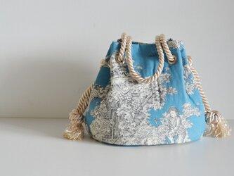 トワルドジュイ サテンロープ マリンバッグ ブルーの画像