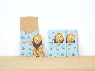 ぽち袋 3個X2セット ぽちライオンの画像