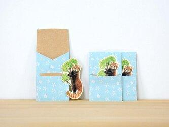 ぽち袋 3個X2セット ぽちレッサーパンダの画像