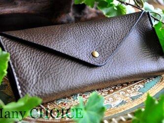 イタリアンオイルレザーアリゾナ・長財布2(オリーブ)の画像