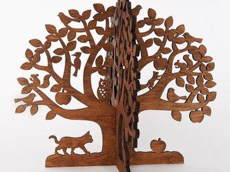 りんごの木(木製アップルツリーオブジェ)の画像