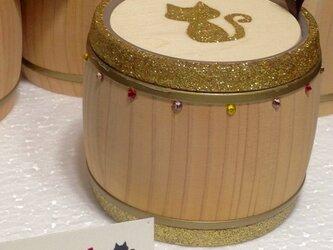 木樽のケースの画像