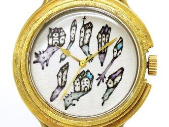 アート腕時計「深夜の集会」イラストレーター 小笠原あり × A STORY TOKYOの画像