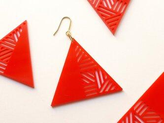 アクリルピアス【三角】/レッドの画像