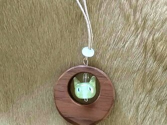 木枠のペンダント Cat ver.の画像