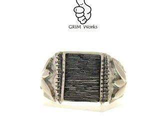 GRIM Works 一点ものリング アンティーク調 印台リングの画像