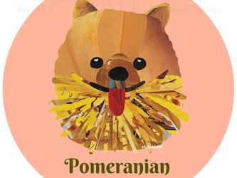 ポメラニアン《犬種名ステッカー/小型犬》の画像