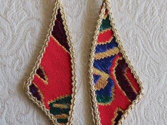 羽のイヤリング(京都西陣織)243の画像