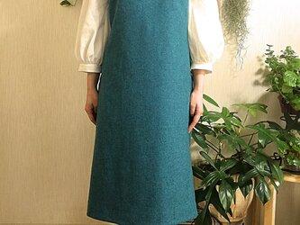 イタリー製 ウール100%生地 ジャンパースカートの画像
