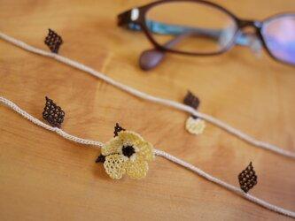 イーネオヤの眼鏡ストラップ (黄土色)の画像